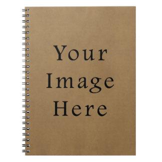 Vintage Buckskin Brown Parchment Paper Background Note Books