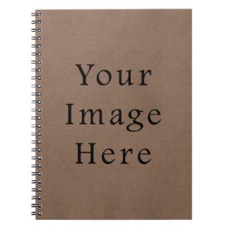 Vintage Buckskin Brown Parchment Paper Background Notebook