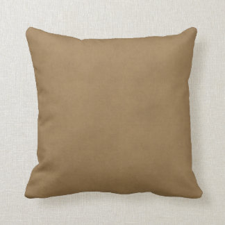 Vintage Buckskin Leather Brown Parchment Template Throw Cushions