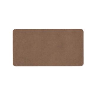 Vintage Buckskin Parchment Tan Brown Antique Paper Address Label