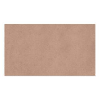 Vintage Buckskin Parchment Tan Brown Antique Paper Pack Of Standard Business Cards
