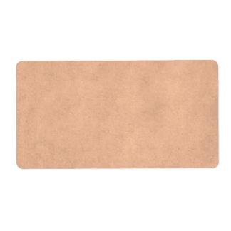 Vintage Buckskin Peach Tan Parchment Antique Paper Shipping Label