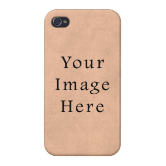 Vintage Buckskin Pink Parchment Paper Background Cases For iPhone 4