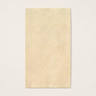 Vintage Buckskin Tan Leather Parchment Template Business Card