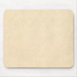 Vintage Buckskin Tan Leather Parchment Template Mouse Pad