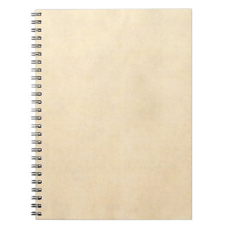 Vintage Buckskin Tan Leather Parchment Template Notebooks
