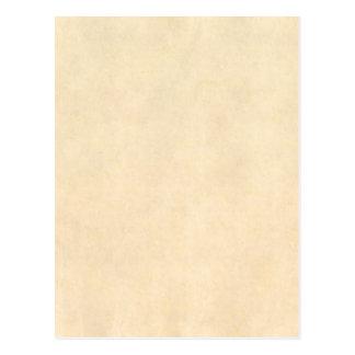 Vintage Buckskin Tan Leather Parchment Template Postcard
