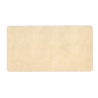 Vintage Buckskin Tan Leather Parchment Template Shipping Label