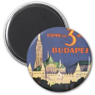 Vintage Budapest 6 Cm Round Magnet