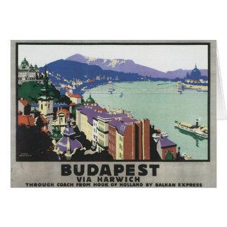 Vintage Budapest Hungary Card