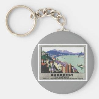 Vintage Budapest Hungary Key Ring