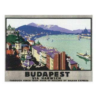 Vintage Budapest Hungary Postcard