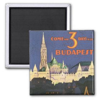Vintage Budapest Square Magnet