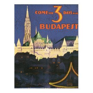 Vintage Budapest Postcard