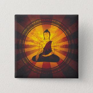 Vintage Buddha Print 15 Cm Square Badge