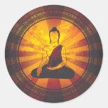 Vintage Buddha Print Sticker