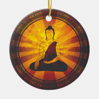 Vintage Buddha Round Ceramic Decoration
