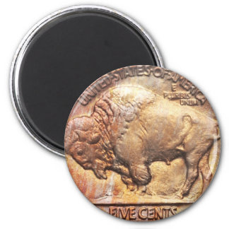 Vintage Buffalo Nickel Coin Collector Gift Magnet
