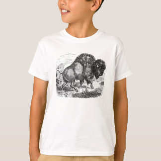 Vintage Buffalo Retro Bison Animal Illustration T-Shirt