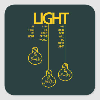 Vintage Bulbs Biblical Light Square Sticker