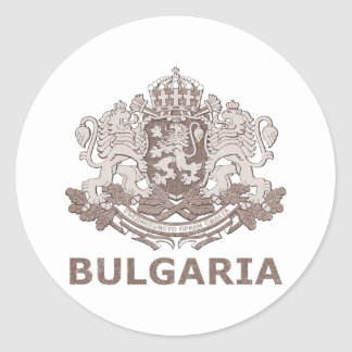 Vintage Bulgaria Classic Round Sticker