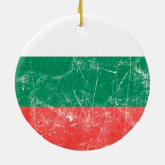 Vintage Bulgarian Flag Round Ceramic Decoration