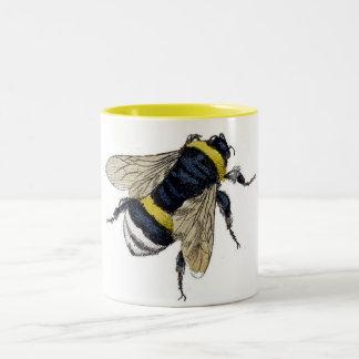 Vintage Bumble Bee Two-Tone Coffee Mug