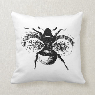 Vintage Bumble Bee Pillow