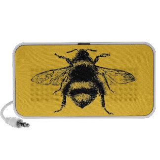 Vintage Bumble bee Portable Speakers