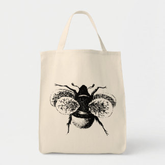 Vintage Bumble Bee Tote Bag