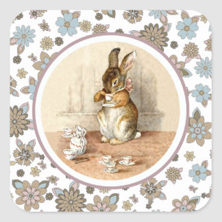 Vintage Bunny Easter Gift Stickers