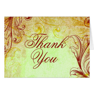 Vintage Burgundy Thank You Cards