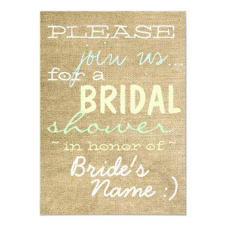 Vintage Burlap Country Bridal Shower Invitation :)