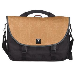 Vintage Burnt Orange Damask Pattern Commuter Bags