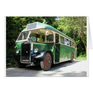 Vintage bus, 1940 transport, British nostalgia Card