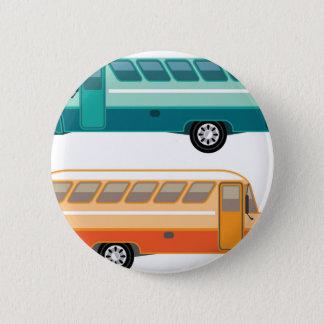 Vintage bus 6 cm round badge