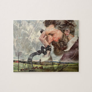 Vintage Business, Alexander Graham Bell Telephone Jigsaw Puzzle