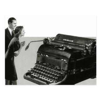Vintage Business, Antique Office Manual Typewriter Postcard