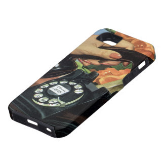 Vintage Business, Antique Phone with Rotary Dial iPhone 5 Covers