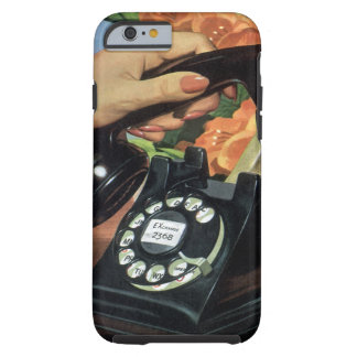 Vintage Business, Antique Rotary Dial Telephone Tough iPhone 6 Case