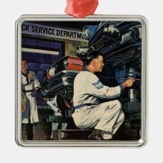 Vintage Business Auto Mechanic, Car Repair Service Christmas Ornament