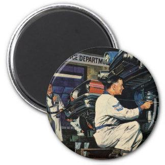 Vintage Business Auto Mechanic, Car Repair Service Magnet