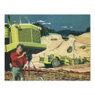 Vintage Business, Construction Site with Surveyor Card