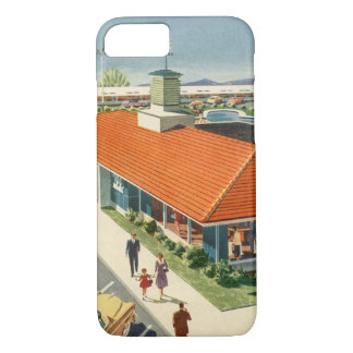Vintage Business, Customers at a Family Restaurant iPhone 7 Case