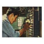 Vintage Business Electrician Circuit Breaker Panel 11 Cm X 14 Cm Invitation Card