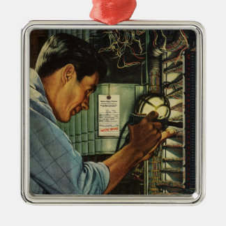 Vintage Business Electrician Circuit Breaker Panel Christmas Ornament