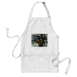 Vintage Business Electricians Work in a Snow Storm Standard Apron