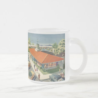 Vintage Business, Family Restaurant with Customers Mug