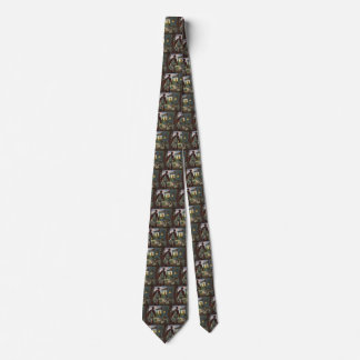 Vintage Business, Farm with Farmer and Chickens Tie