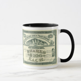 Vintage Business Finance Capital Stock Certificate Mug